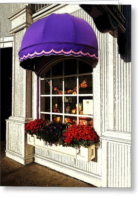 Desiree Paquette Greeting Cards - Mums on Main Street Greeting Card by Desiree Paquette