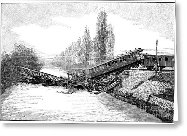 Surveying Greeting Cards - Munchenstein Rail Disaster, 1891 Greeting Card by Spl