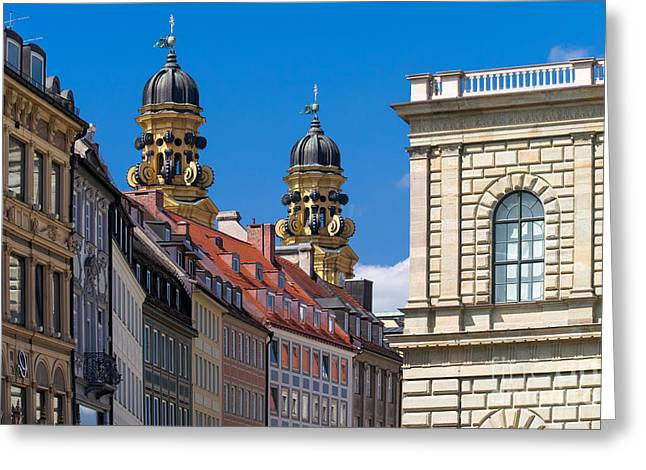 Munich Greeting Card by Juergen Klust
