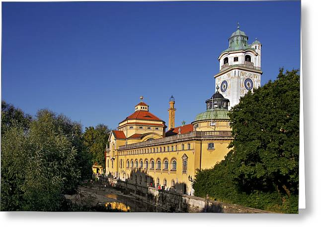 Munich - Mueller'sches Volksbad - Au-haidhausen Greeting Card by Christine Till