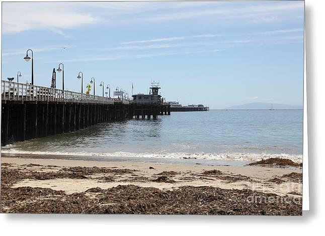 Municipal Wharf At The Santa Cruz Beach Boardwalk California 5d23766 Greeting Card by Wingsdomain Art and Photography
