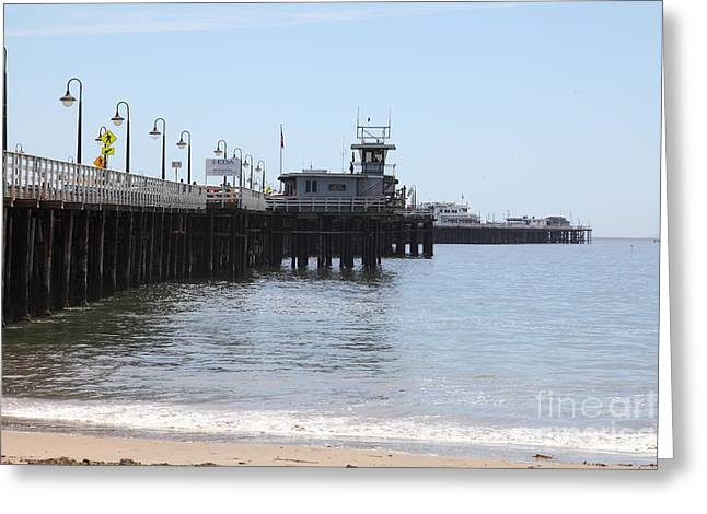 Santa Cruz Pier Greeting Cards - Municipal Wharf At The Santa Cruz Beach Boardwalk California 5D23767 Greeting Card by Wingsdomain Art and Photography