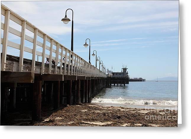 Municipal Wharf At The Santa Cruz Beach Boardwalk California 5d23768 Greeting Card by Wingsdomain Art and Photography