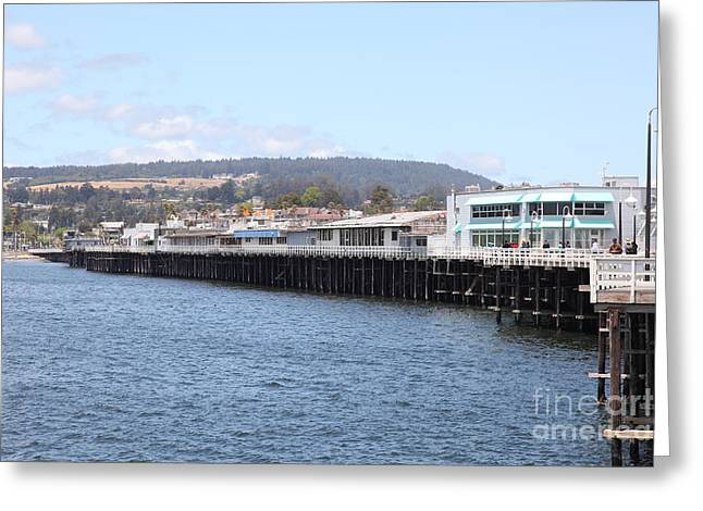 Municipal Wharf At The Santa Cruz Beach Boardwalk California 5D23813 Greeting Card by Wingsdomain Art and Photography