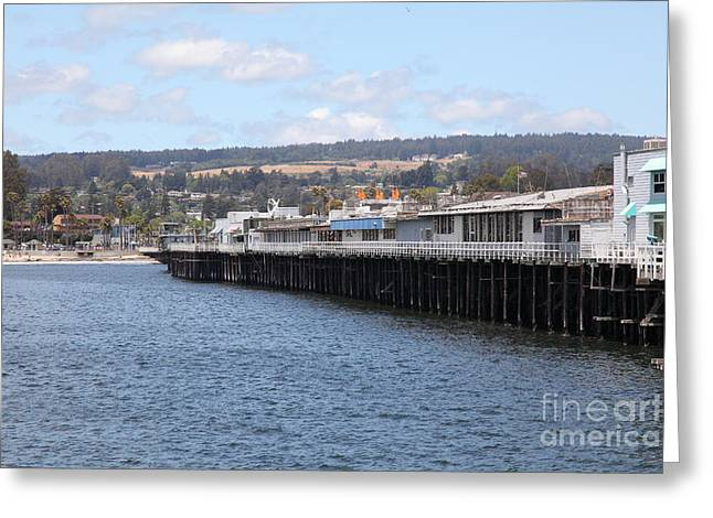 Santa Cruz Pier Greeting Cards - Municipal Wharf At The Santa Cruz Beach Boardwalk California 5D23815 Greeting Card by Wingsdomain Art and Photography