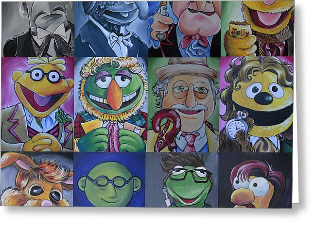 The Bean Greeting Cards - Muppet Doctor Who Mash-up updated Greeting Card by Lisa Leeman
