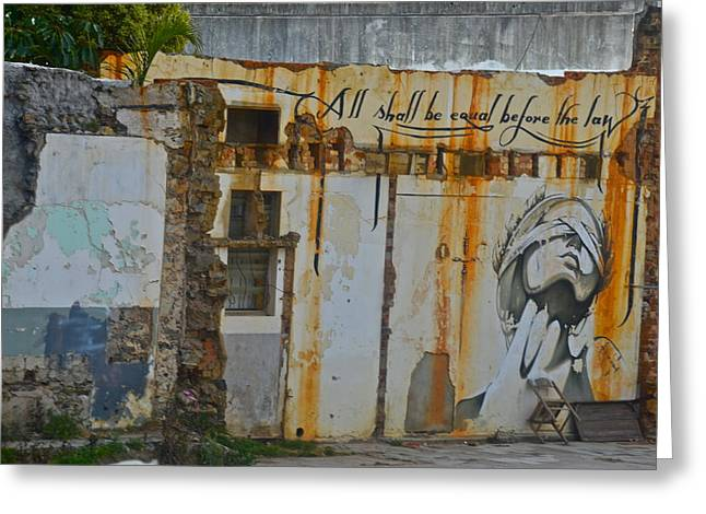 Cape Town Greeting Cards - Mural Graffiti Greeting Card by Dorota Nowak
