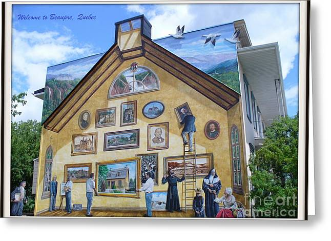 Ski Art Greeting Cards - Mural In Beaupre Quebec Greeting Card by Lingfai Leung