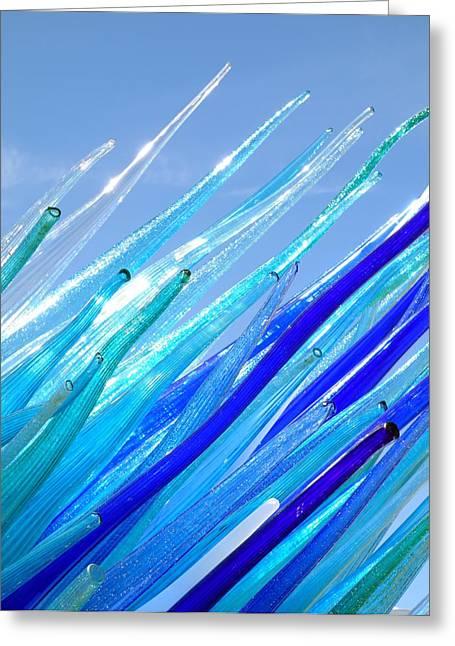 Installation Art Greeting Cards - Murano Glass Installation Greeting Card by Valentino Visentini