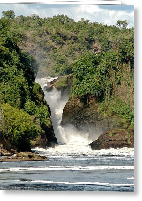Geobob Greeting Cards - Murchison Falls Uganda from below on the Victoria Nile Greeting Card by Robert Ford