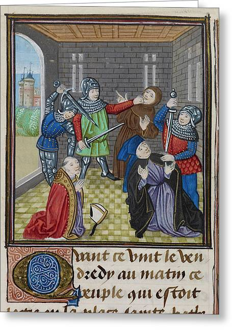 Murder Of Simon Sudbury Greeting Card by British Library