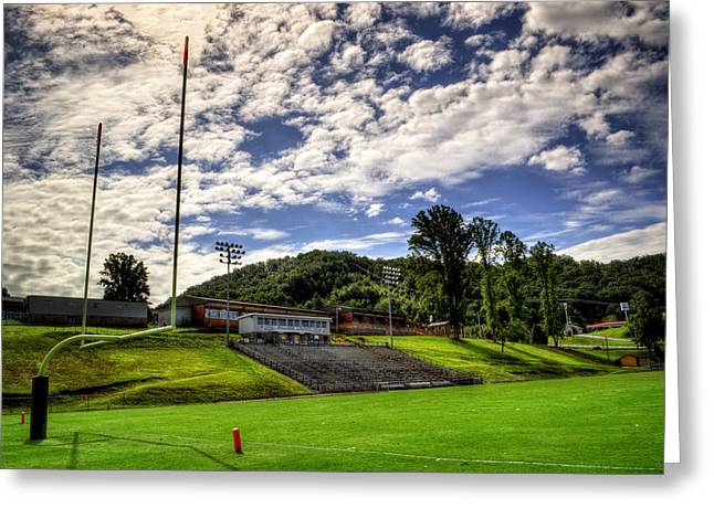 Mhs Greeting Cards - Murphy NC Bulldogs Goal Greeting Card by Greg and Chrystal Mimbs