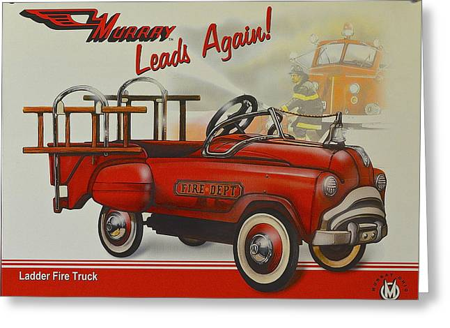 Fireman Posters Greeting Cards - Murray Fire Truck Greeting Card by Frozen in Time Fine Art Photography