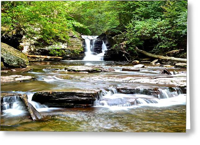 Marvelous View Greeting Cards - Murray Reynolds Falls Greeting Card by Frozen in Time Fine Art Photography
