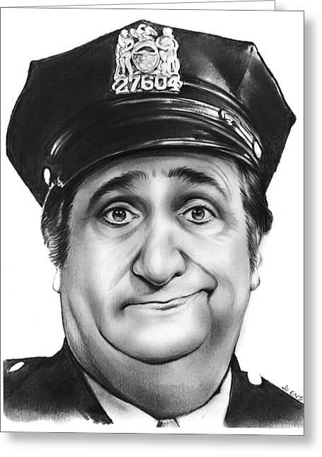 Murray The Cop Greeting Card by Greg Joens
