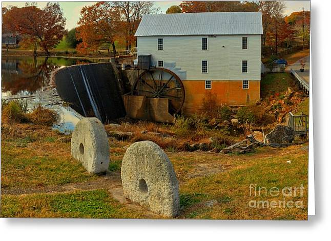 Grain Mill Greeting Cards - Murrays Grist Mill Landscape Greeting Card by Adam Jewell