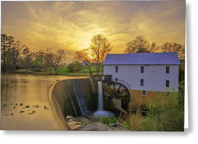 Grist Mill Greeting Cards - Murrays Mill Greeting Card by Marion Johnson