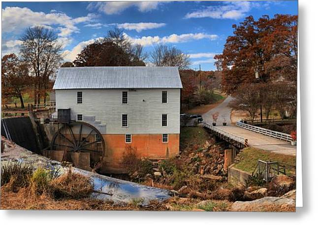 Grain Mill Greeting Cards - Murrays Mill Town Panorama Greeting Card by Adam Jewell