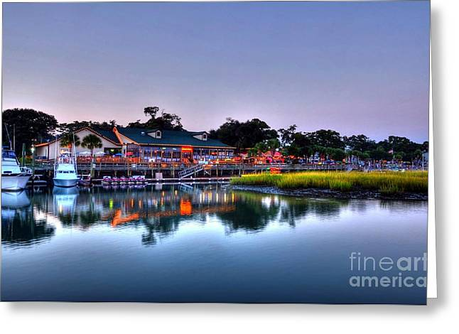 Fishing Creek Greeting Cards - Murrells Inlet Evening Greeting Card by Mel Steinhauer