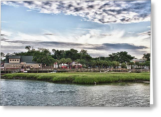 Mike Covington Greeting Cards - Murrells Inlet Marsh Walk Greeting Card by Mike Covington