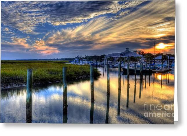 Murrells Inlet Sunset 1 Greeting Card by Mel Steinhauer