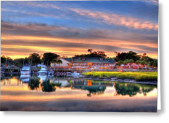 Fishing Creek Greeting Cards - Murrells Inlet Sunset 3 Greeting Card by Mel Steinhauer