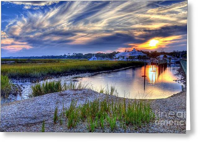 Low-country Greeting Cards - Murrells Inlet Sunset 4 Greeting Card by Mel Steinhauer