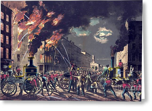 Muscle And Steam 1861 Greeting Card by Padre Art