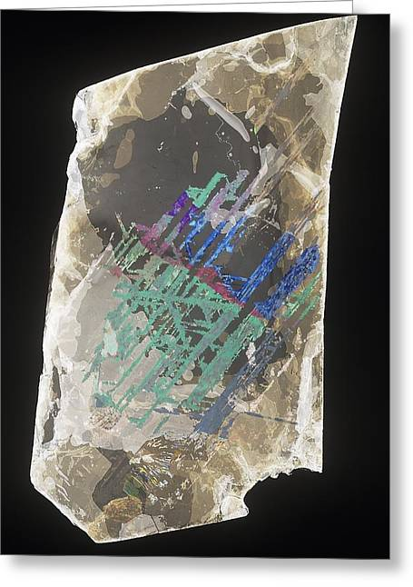 Hematite Greeting Cards - Muscovite Greeting Card by Science Photo Library