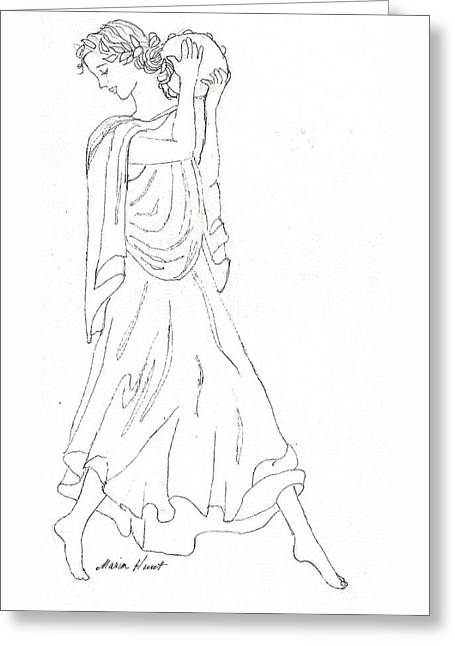 Terpsichore Muse Of Dance Greeting Card by Maria Hunt