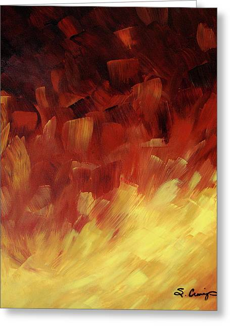 Sharon Greeting Cards - Muse In The Fire 3 Greeting Card by Sharon Cummings