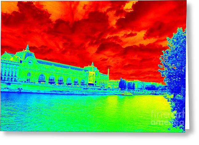 Interesting Clouds Greeting Cards - Musee dOrsay - Bold Colors Greeting Card by Carol Groenen