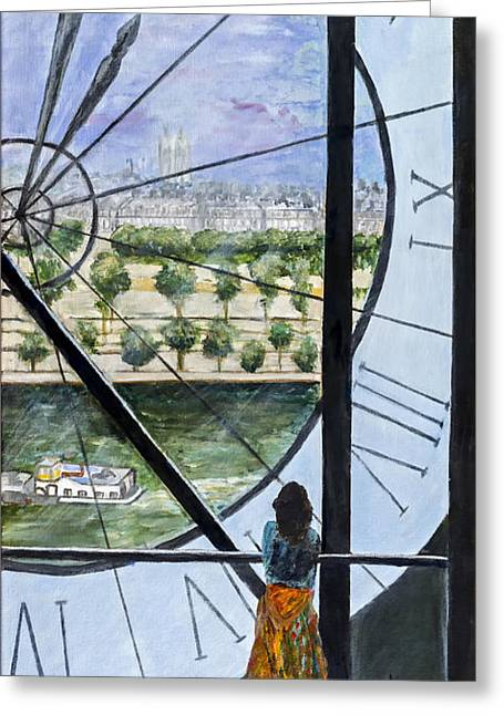 Large Clocks Greeting Cards - Musee DOrsay in Paris by Sandy Taffin Greeting Card by Sheldon Kralstein