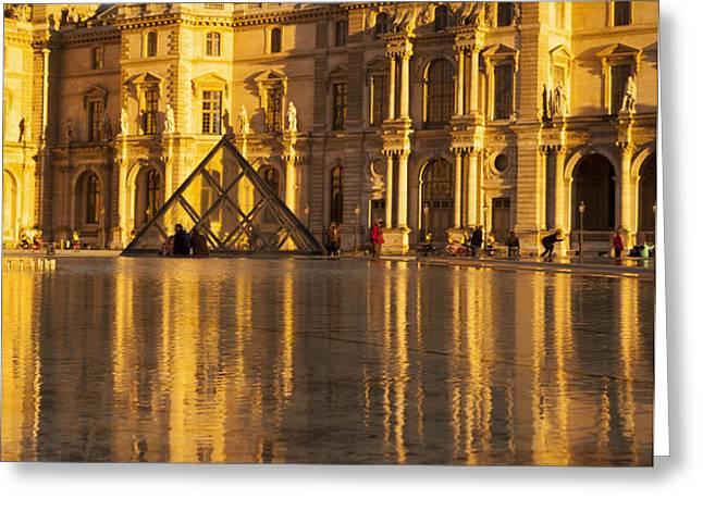 Musee du Louvre Sunset Greeting Card by Brian Jannsen