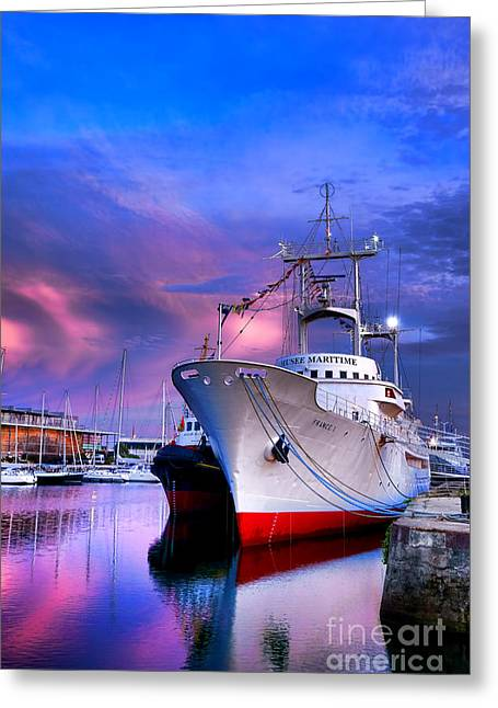 Observation Greeting Cards - Musee Maritime Greeting Card by Olivier Le Queinec