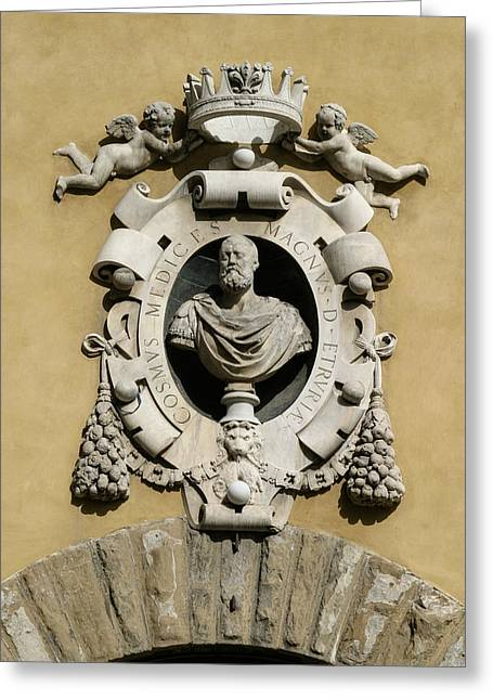 Fiorenza Greeting Cards - Museo di S Maria Coat of Arms Greeting Card by Karen Stephenson