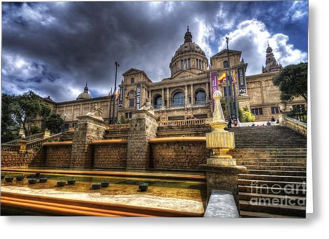 Catalunya Greeting Cards - Museu Nacional dArt de Catalunya Greeting Card by Yhun Suarez