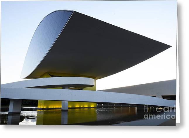 Curitiba Greeting Cards - Museu Oscar Niemeyer Brazil 1 Greeting Card by Bob Christopher