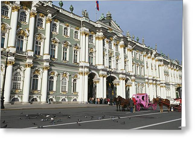 Overcast Day Greeting Cards - Museum Along A Road, State Hermitage Greeting Card by Panoramic Images
