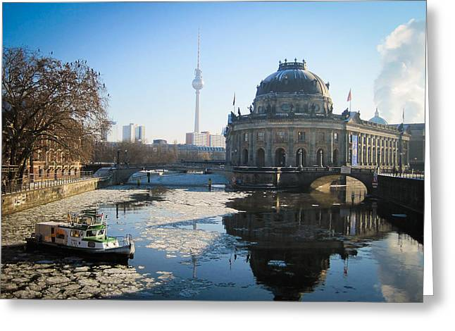 Geschichte Greeting Cards - Museum Island  Greeting Card by Devan M