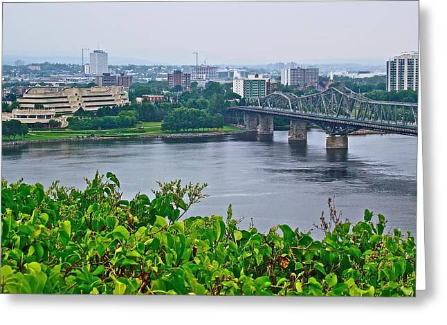 Qc Greeting Cards - Museum of Civilization Across the Ottawa River in Gatineau-QC Greeting Card by Ruth Hager