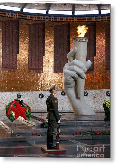 Eternal Flame Greeting Cards - Museum Of The Battle Of Stalingrad Greeting Card by Hubertus Kanus