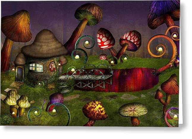 Shrooms Greeting Cards - Mushroom - Deep in the Bayou Greeting Card by Mike Savad