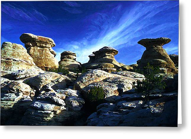 Stones Greeting Cards - Mushroom Rocks Greeting Card by Bill Caldwell -        ABeautifulSky Photography