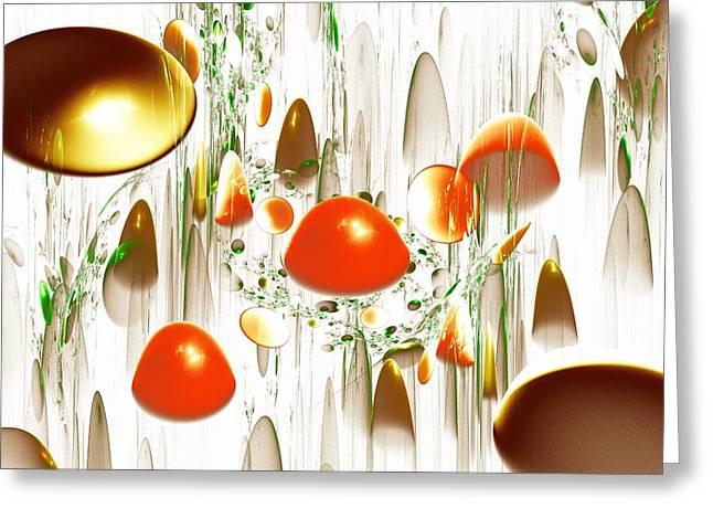 Fungi Mixed Media Greeting Cards - Mushrooms Greeting Card by Anastasiya Malakhova