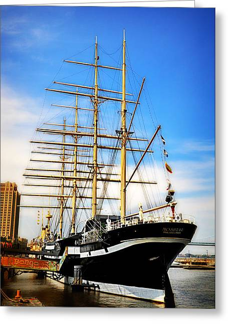 Mushulu At Penns Landing Greeting Card by Bill Cannon
