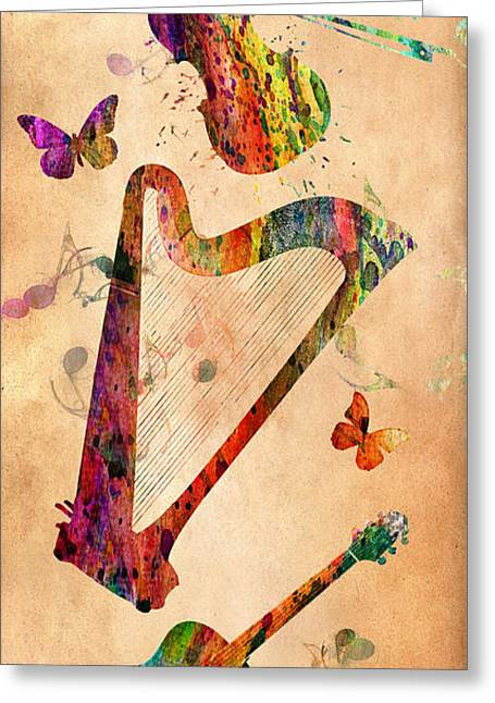 Jamming Greeting Cards - Music 3 Greeting Card by Mark Ashkenazi