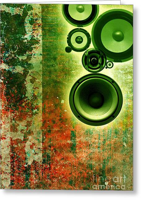 Music Background Greeting Card by Christophe ROLLAND