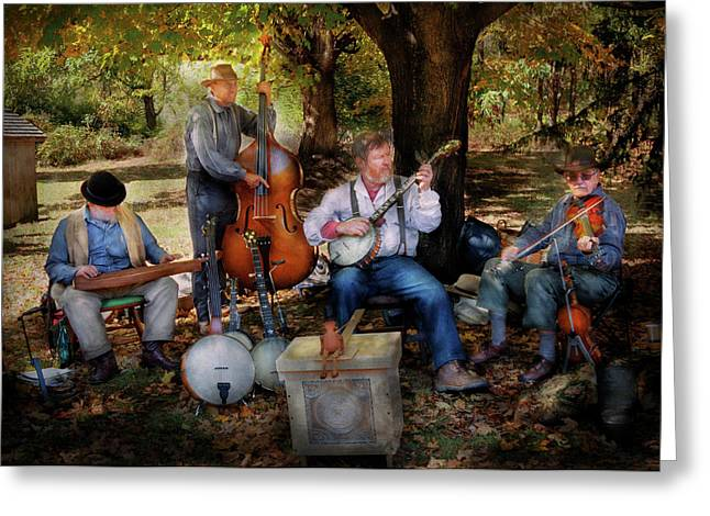 Music Band - The bands back together again  Greeting Card by Mike Savad