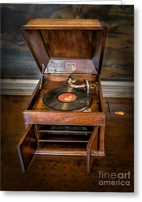 Cabinet Greeting Cards - Music Box Greeting Card by Adrian Evans